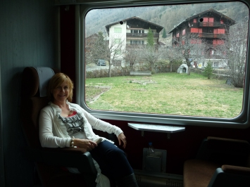 Swiss train en route to Zermatt