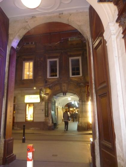 Arcade in Central Vienna