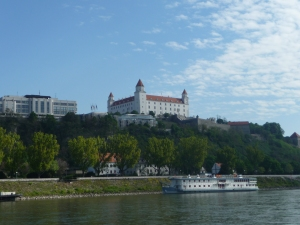 Bratislava Castle viewed from River Danube