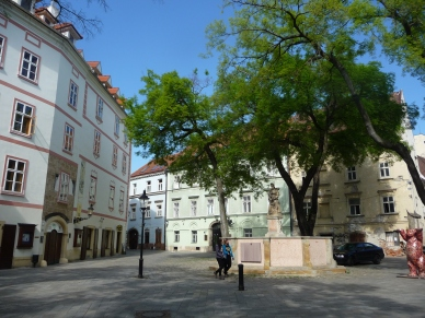 Streets leading off the Main Square Old Town Bratislava