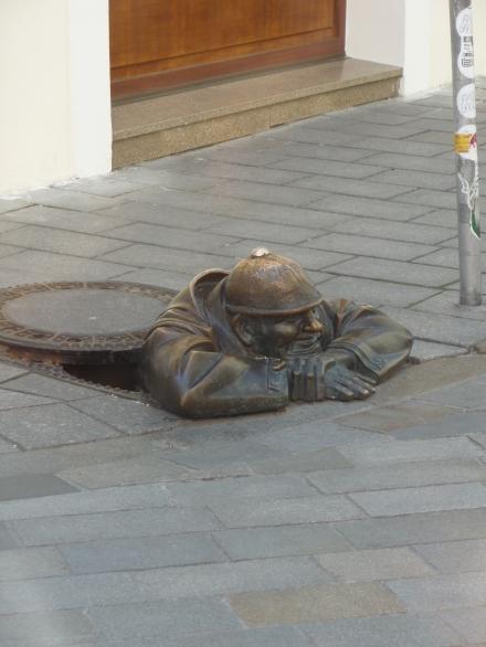 """Street Sculpture Bratislava """"Watcher"""""""