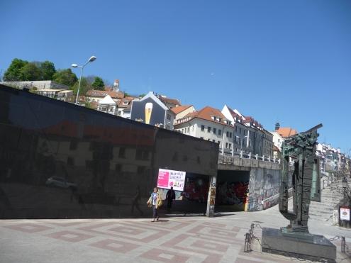 By the Jewish Memorial Bratislava