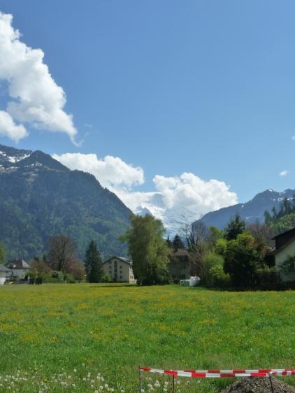 View up the Lauterbrunnen Valley from Interlaken