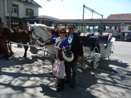 Our horse and carriage in Interlaken