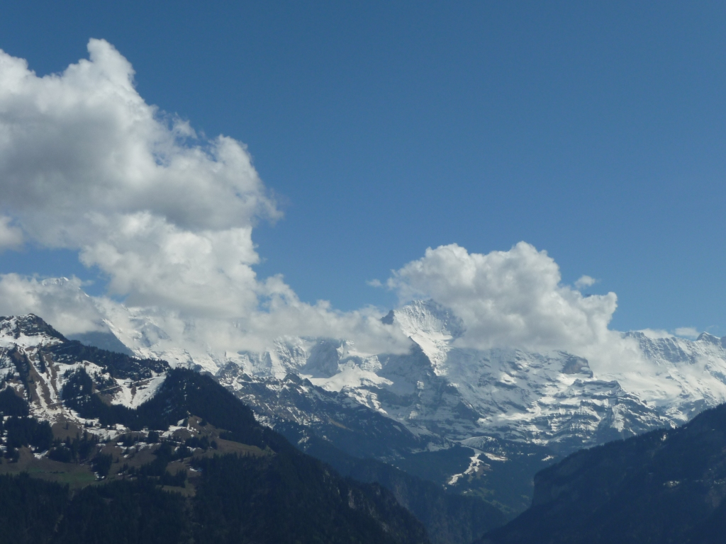 View towards Jungfrau from Harder Kulm Bernese Oberland
