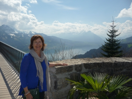 View back to Thunersee from Harder Kulm