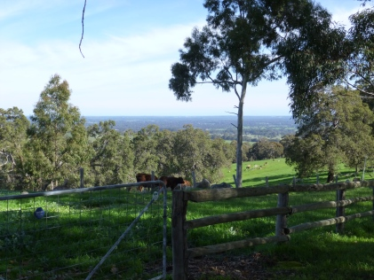 Countryside near Jarrahdale WA view back towards Perth