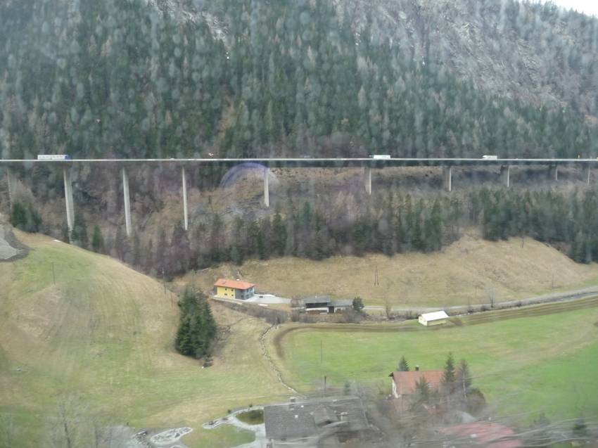 View across to the Europa Bridge from our train