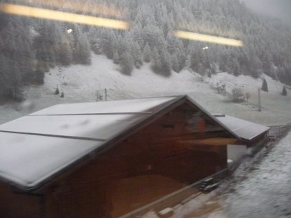 The return journey over the Brenner Pass later the same day!