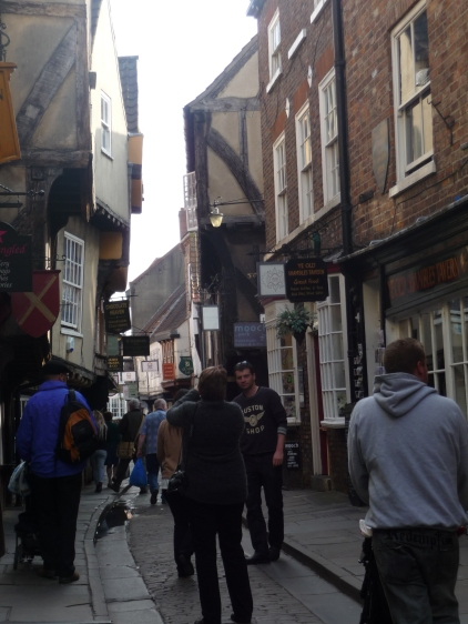 The Shambles York - probably the most famous of the medieval streets here