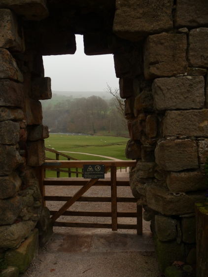 View back down towards the River Wharfe Bolton Abbey Yorkshire