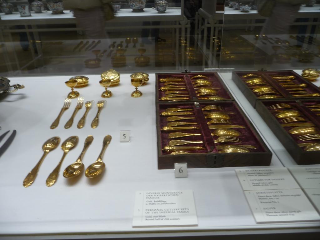 Maria Theresa's Gold Cutlery Set