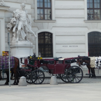 Horse and Carriages outside the Hofburg Vienna