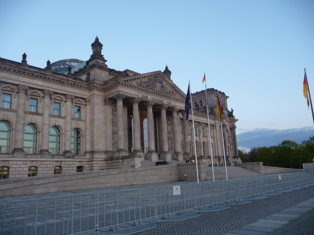 The front of ther Reichstag Building Berlin