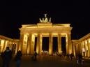 The Brandenburg Gate at night Berlin