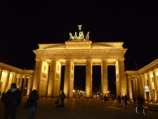 The Brandenburg Gate at night Berlin