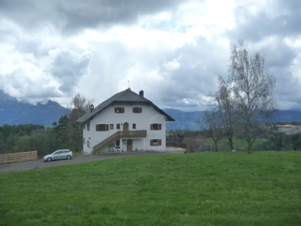 Typical alpine house near Oberbozen Dolomites