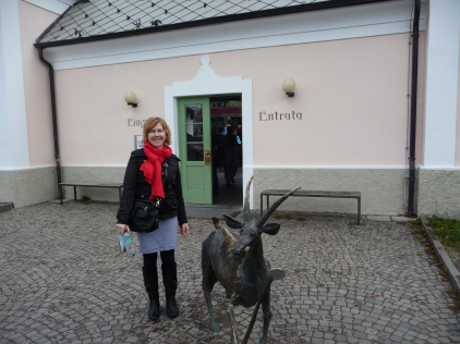 "The station entrance with resident ""ibex"""