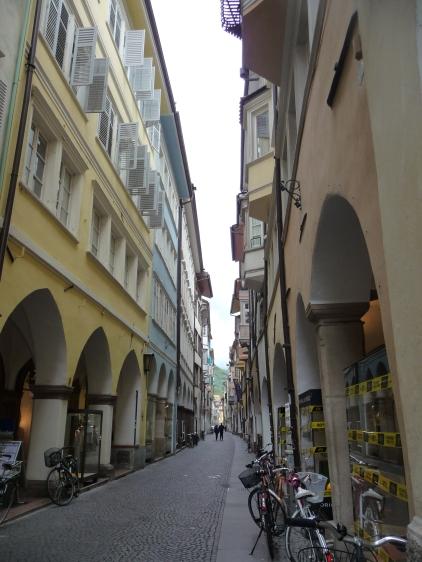 The charming old streets Bolzano