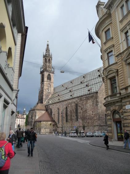 Church near main piazza Bolzano
