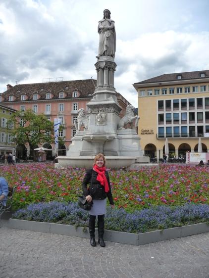 Flowers in main piazza Bolzano