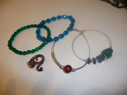 Central European jewellery bangles and ring from Budapest and crystal bangles from Prague