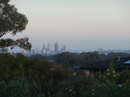 View Towards Perth City Centre