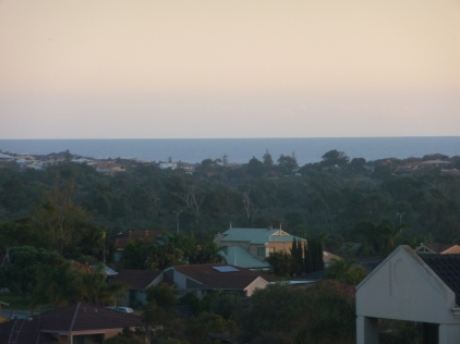 The sun is starting to set over the Indian Ocean