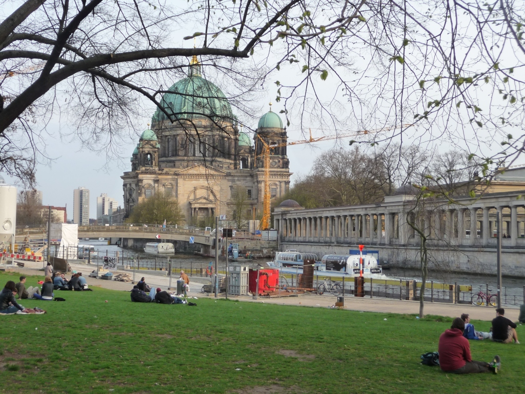 Berlin by the River Spree and The Dom