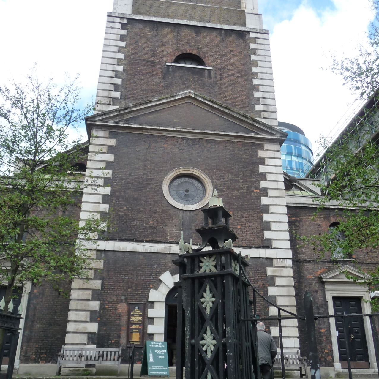 Outside St Botolph's Aldgate