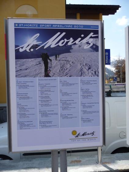 St Moritz Tourist Poster