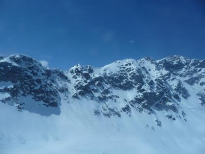 The brilliant colours of the Bernina Alps