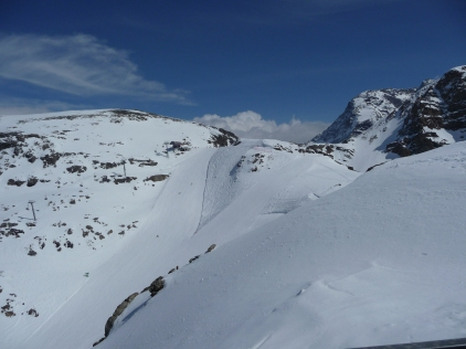 The ski runs and off piste areas Diavolezza