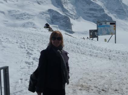 Taking in the mountain air Diavolezza