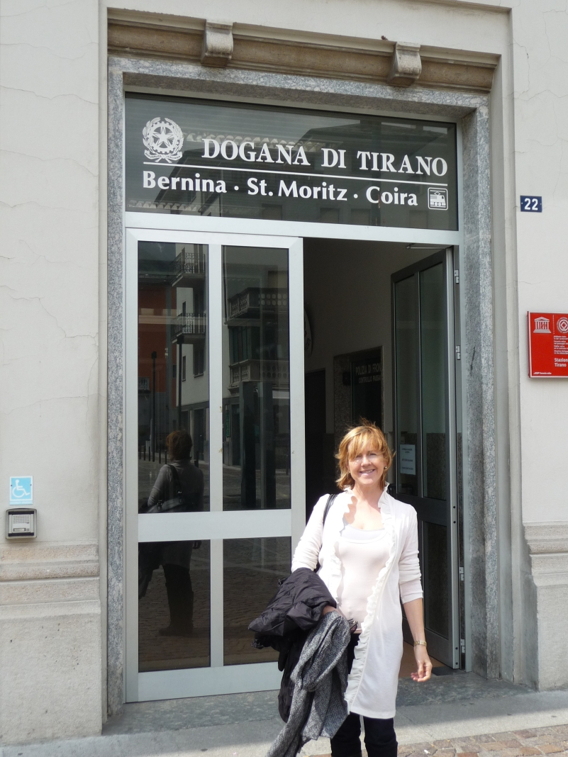 Tirano Station northern Italy