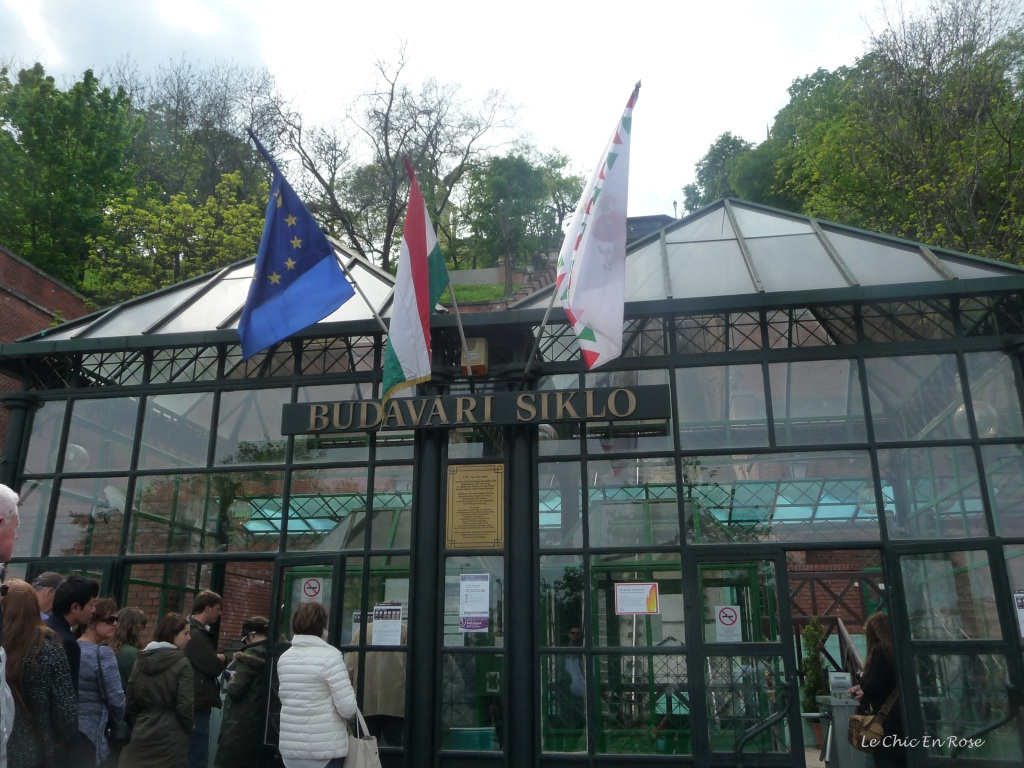 The bottom station of  the Funicular Of Buda Castle