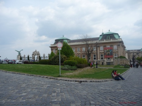 View towards the Royal Palace complex on Buda Castle Hill now home to the Budapest History Museum and the Hungarian National Gallery