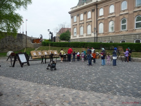 Archery in the grounds of the Royal Palace Buda on Castle Hill