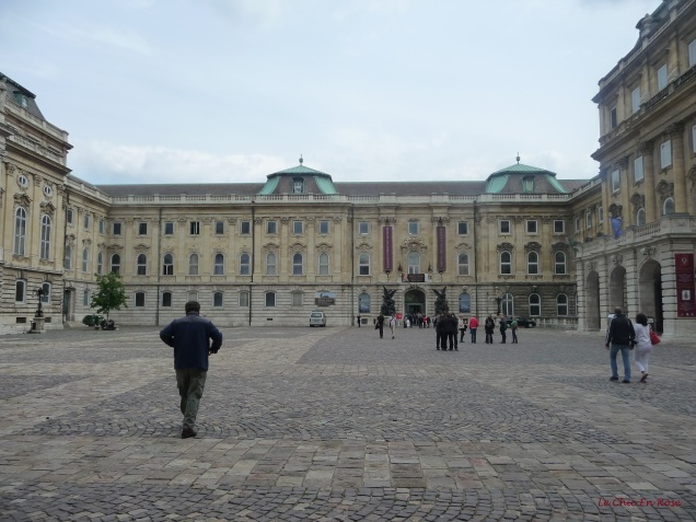 Crossing the courtyard of the Royal Palace towards the entrance to the Budapest History Museum