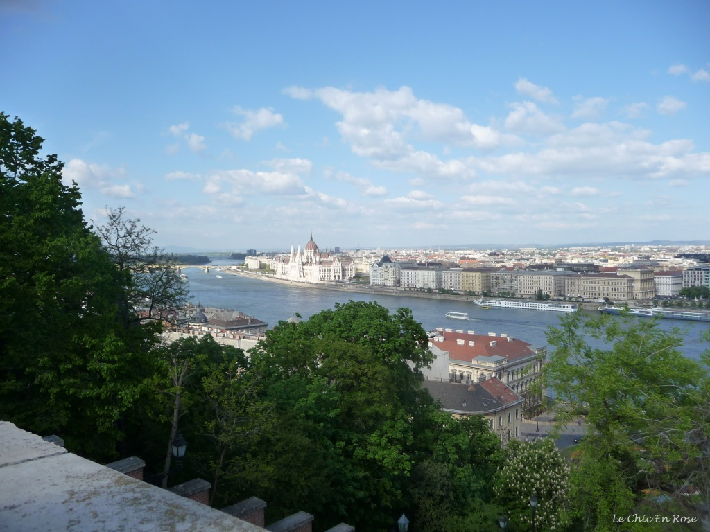 View from Buda Castle Hill Lookout at the top of the Funicular Railway