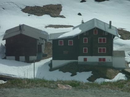 Houses between Andermatt and Disentis Muster