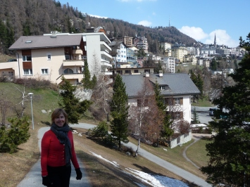 Walking around St Moritz