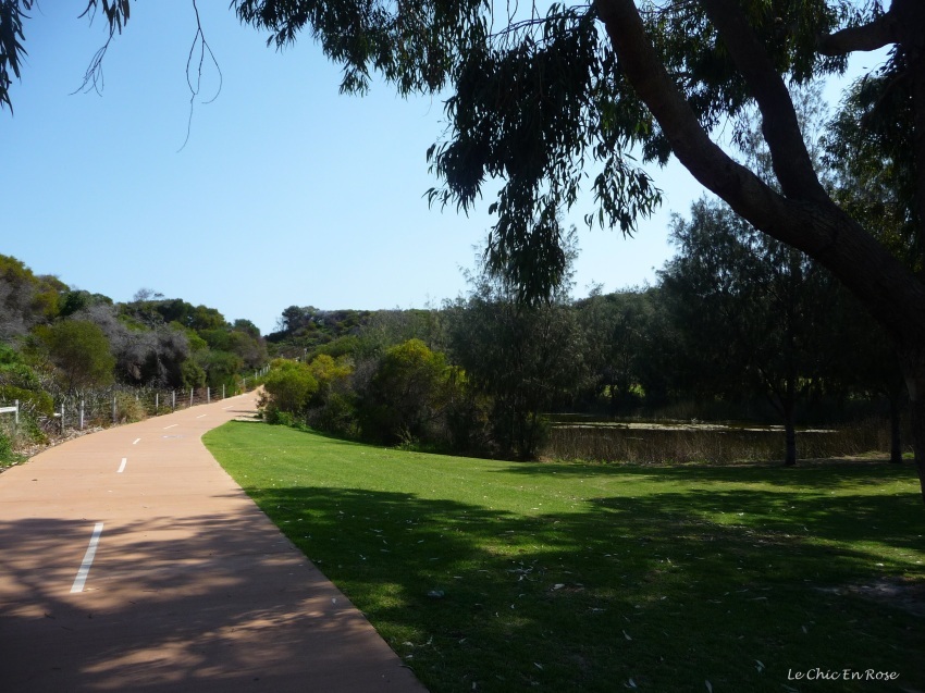 Coastal path heading north by Hillarys Beach Park