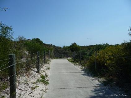 The coastal path continues north