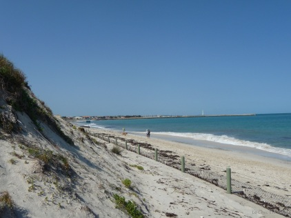 View back towards the breakwater