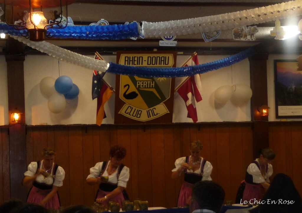 The Echo der Berge bell ringing group performing as part of the Oktoberfest celebrations in Perth