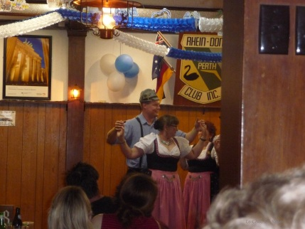 Traditional German dancing