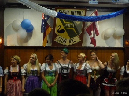 The line up at the dirndl competition