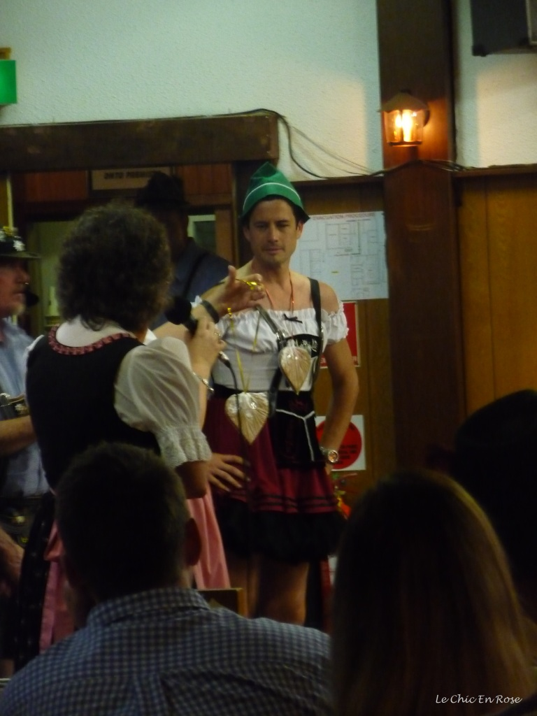 Winner of the best dressed dirndl competition!