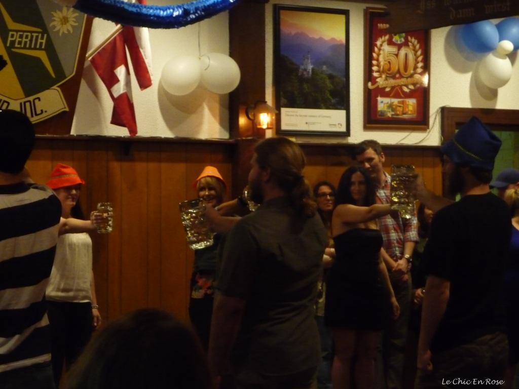 Stein holding contest Oktoberfest